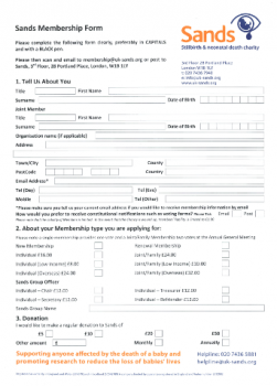 Sands Membership form